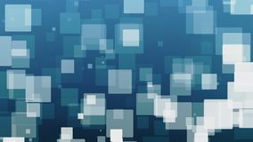 Falling squares in white on blue stock footage