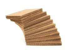Falling stack of cardboard Royalty Free Stock Image