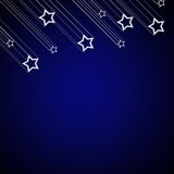Falling star background Stock Photo