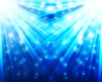 Falling stars. With light rays Royalty Free Stock Photography