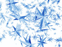 Falling Stars. Stars falling from the sky Royalty Free Stock Photo