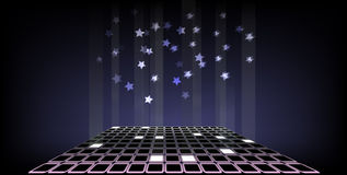 Falling stars background. Stock Photo