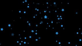 Falling Stars cartoon over black background very easy to use them over your videos using alpha channel, stars rain stock video footage