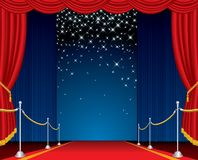 Falling stars stage Royalty Free Stock Photo