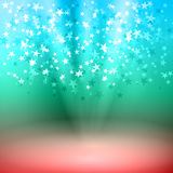 Falling stars on stage. Vector illustration background falling stars on stage Royalty Free Stock Photography