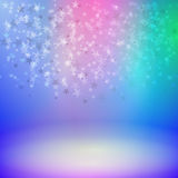 Falling stars on stage. Vector illustration background falling stars on stage Royalty Free Stock Photos