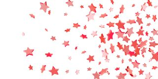 Falling stars on a white background royalty free illustration