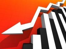 Falling stats Royalty Free Stock Photos