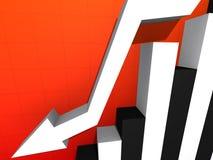 Falling stats Stock Photo