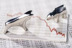 Falling stock market prices Stock Image