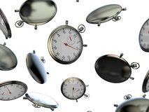 Falling stopwatch isolated Royalty Free Stock Photo