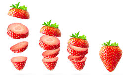 Falling strawberry Stock Image