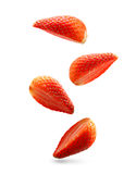 Falling strawberry isolated Royalty Free Stock Image