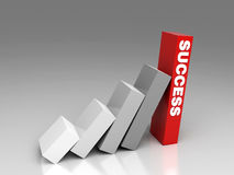 Falling success. Hi res renderin stair of success Stock Photography