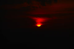 Falling sun. Click from hill top royalty free stock photography