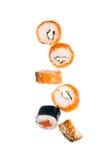 Falling sushi Stock Photos