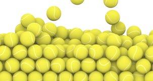 Falling tennis balls
