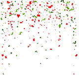 Falling tiny colorful bright confetti pieces on transparent background Royalty Free Stock Images