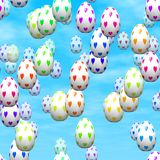 Falling Valentine eggs generated hires texture Royalty Free Stock Photo