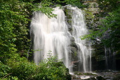 Falling water. Waterfall Great Smoky Mountains National Park stock photos