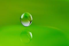 Falling water drop. Beautiful macroshot of a falling water drop Stock Photo