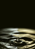 Falling water drop poster template. Liquid drops Royalty Free Stock Images