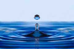 Falling into water droplets Royalty Free Stock Photography