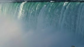 Falling water and fog. Niagara. stock video footage