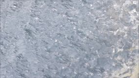 Falling Water. Water falling from a fountain stock footage