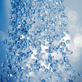 Falling waterdrops. Stock Images
