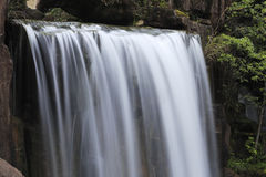 Falling waterfall like silk. As smooth as silk to the whereabouts of the waterfall Royalty Free Stock Image