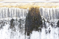 Falling waterfall water. White foam Stock Image
