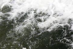 Falling waterfall water. White foam Royalty Free Stock Photos