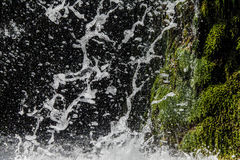 Falling watter sparkling waterfall Royalty Free Stock Images