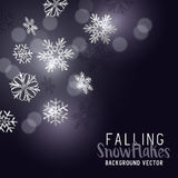 Falling Winter Snowflakes Stock Photo