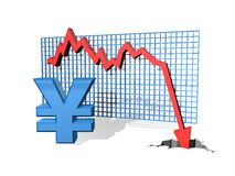 Falling Yen Stock Photos