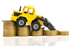 Falling yields in the construction industry Stock Images