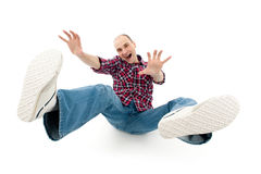 Falling young man Royalty Free Stock Photos
