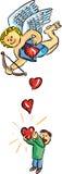 fallings hearts Στοκ Εικόνες