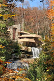 Fallingwater. The Fallingwater in Mill Run, PA, USA designed by Frank Lloyd Wright, is on Smithsonian magazine's list of 28 Places to Visit Before You Die Royalty Free Stock Photography