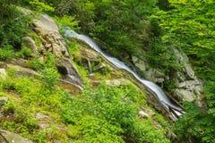 Fallingwater Cascading Waterfalls. On Fallingwater Creek located near Peaks of Otter on the Blue Ridge Parkway, Virginia, USA at Milepost 83.1 stock photo