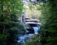 Fallingwater. This is an early morning picture of the historic Fallingwater on the Bear Run River located in Mill a Run, Pennsylvania in Lafayette County. This stock photos