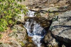 Fallingwater Spada kaskadą †'Horyzontalny widok obrazy royalty free