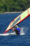 FallingWindsurfer. Falling windsurfer in St. Lucia Stock Images