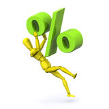 Fallinig Interest. A Rendered Ilustration Portraying Falling or Rising Interest Rates Stock Illustration