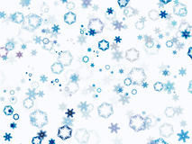 Fallink snow flakes Royalty Free Stock Photography