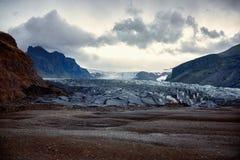 Falljokull en Skaftafell Fotografía de archivo libre de regalías
