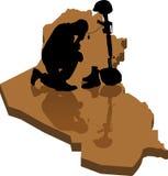 fallna iraq royaltyfri illustrationer