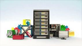 Fallng fixed server cloud contents, programing software contents.