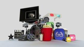 Fallng olik film, drama, VOD innehåll, underhållninginnehåll vektor illustrationer